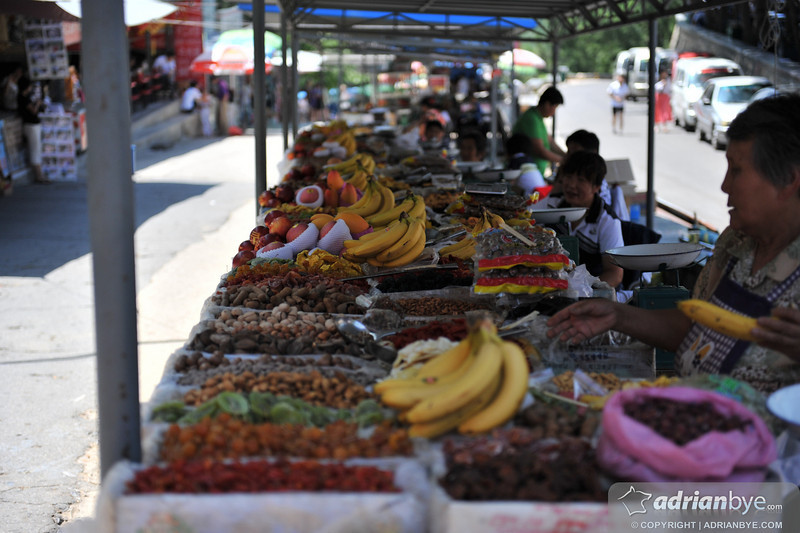 Fruit stall near the great wall of china