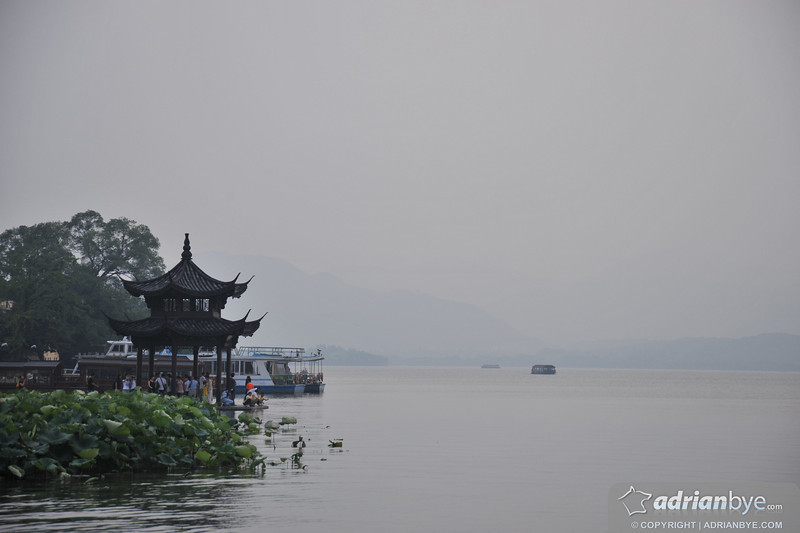 The lake in Hangzhou for going boating