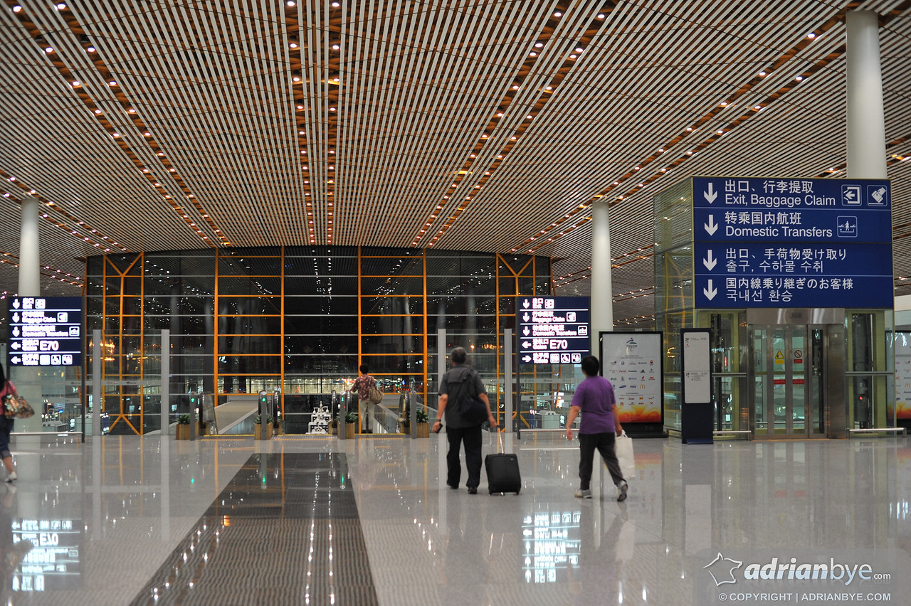 they really did an amazing job with the airport in Beijing for the olympic games