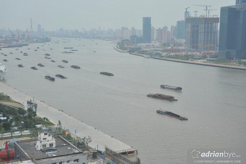 Boats in Shanghai.  There is constant building everywhere