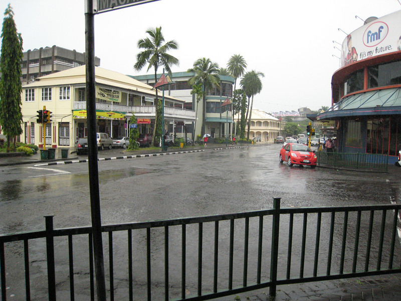 Downtown Suva, the capital of Fiji