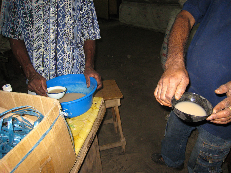 "This is the fijian drink ""kava"" which is a low grade narcotic.  I didn't like the taste."