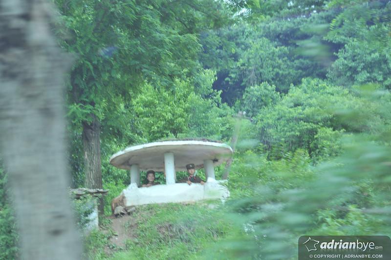 North Korean military on patrol