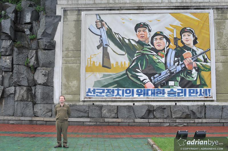 Lots of propaganda everywhere.