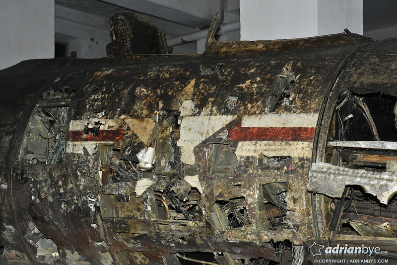 A crashed US plane from the Korean war