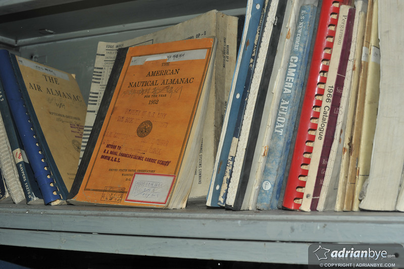 Books & manuals from the USS Pueblo dating from the 1960s, appears like they are basically untouched.
