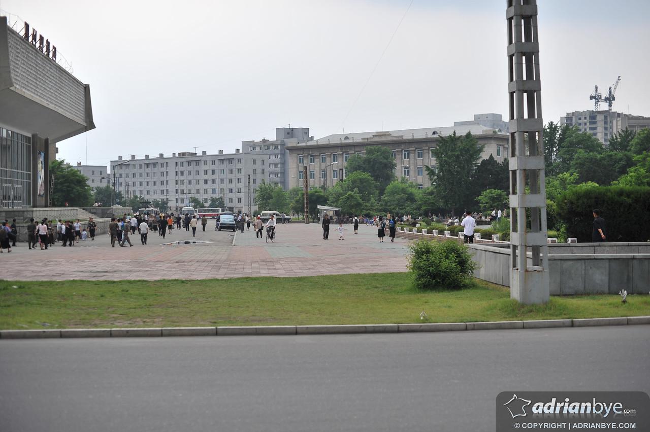 A street view in Pyongyang