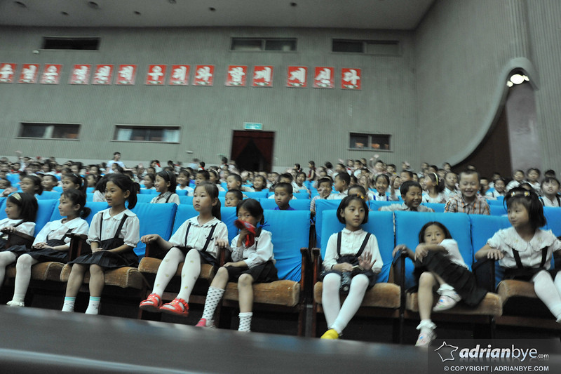 North Korean kids at a music show