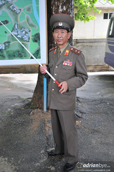 North Korean military near the DMZ
