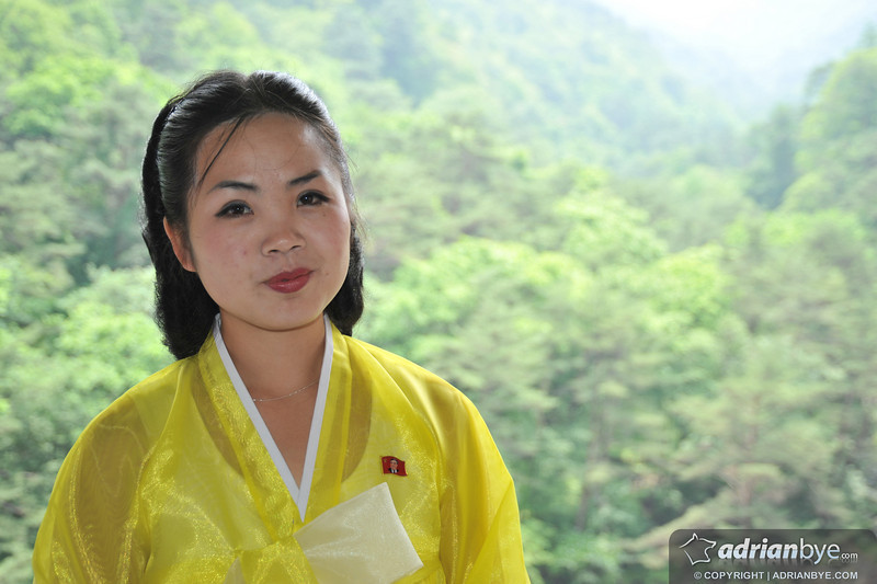 One of our guides.  She is considered to be extremely beautiful by the North Koreans