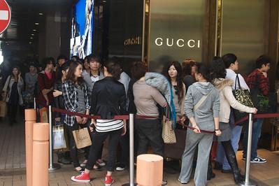 Shopping mania in Kowloon.