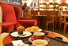 Breakfast on espresso, banana muffin and croissant at Pacific Coffee Company at IFC mall.
