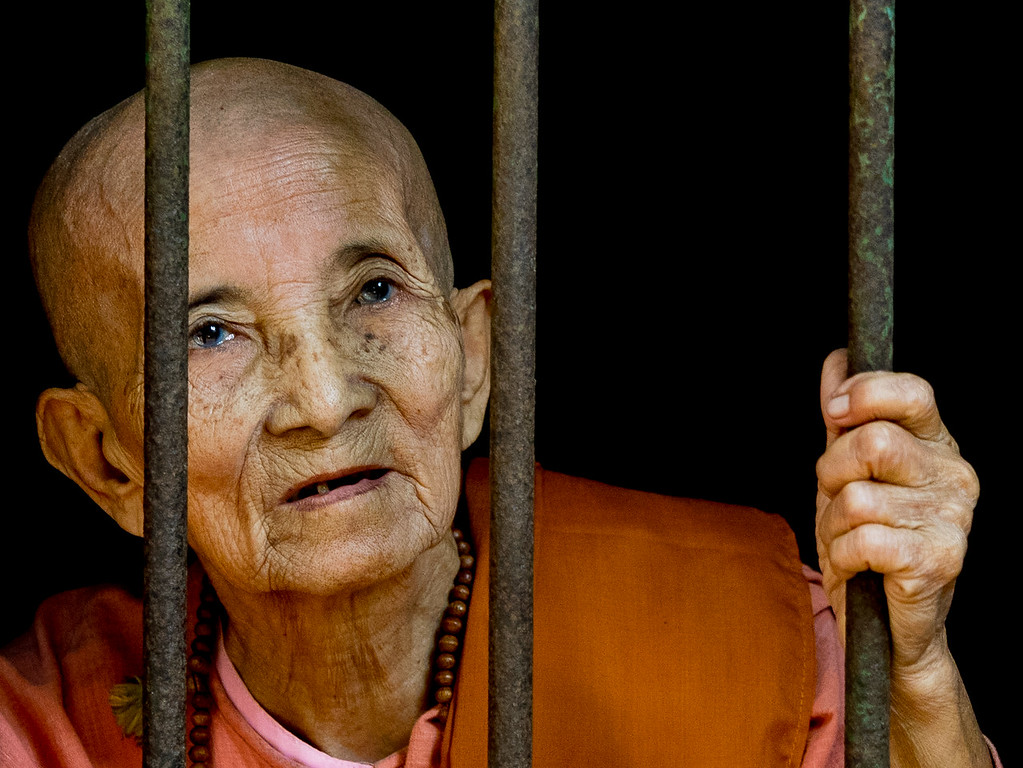 82 year-old  nun at her window