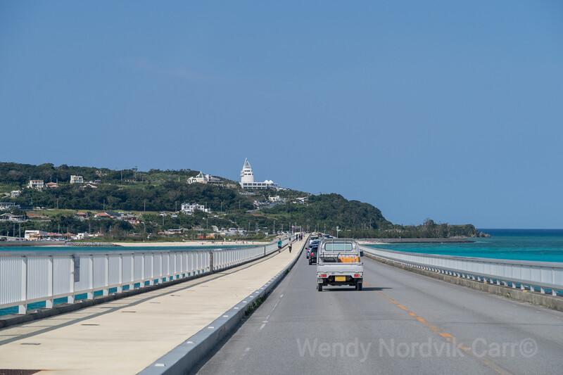 Kouri Bridge on Okinawa connects Yagaji jima and Kouri jima
