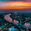 Bangkok, Thailand Skyline Sunset Afterglow
