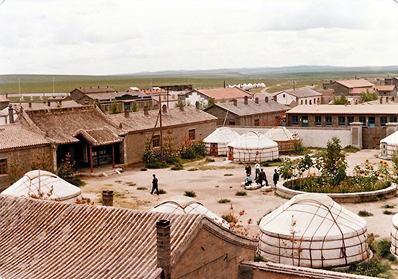 """Inside some compounds are """"yurts"""" that nomadic peoples use in Inner Mongolia."""