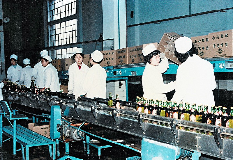 Tsingdao beer bottling