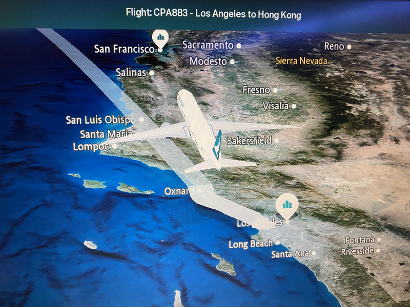 CX 883 to HKG from LAX
