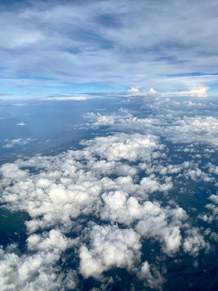 Clouds over Bali, enroute to HKG