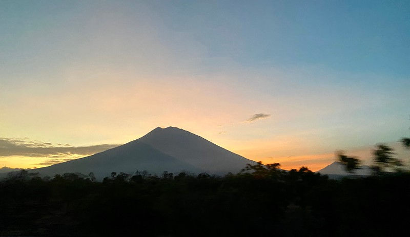 Mt. Agung and sunset
