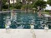 Taking respite in VM's infinity pool, drinks waiting poolside