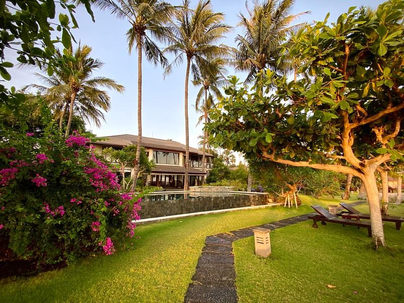 Villa Markisa dappled in early morning sunshine