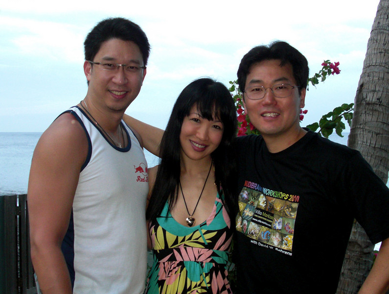 Luke & Mabel (from Singapore) and Kevin Lee (USA)
