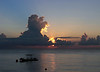 VM dive boat and sunrise