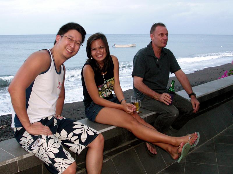 Luke, Samantha & Pedro (Swiss co-owner of Villa Markisa)