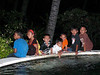 Local kids watching the Balinese drama & testing out the swimming pool water