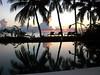 Sunrise on reflecting pool