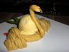 Designer dessert - ice cream swan