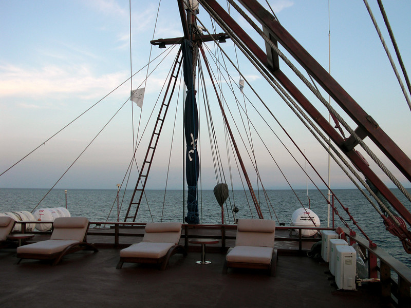 AA II sundeck.  Great place at night to view the Milky Way and witness shooting stars, stream across the black velvet sky.