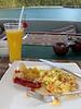Breakfast & mango juice