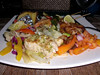 Dinner - fusion of east & west - fish, chicken, shrimp & veggies... mmm, good...