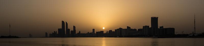 Abu Dhabi Skyline at Sunrise