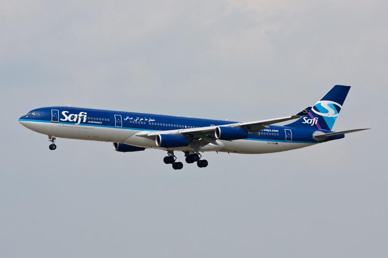 """YA-TTB Airbus A340-311 """"Safi Airways"""" c/n 015 Frankfurt/EDDF/FRA 01-07-10"""