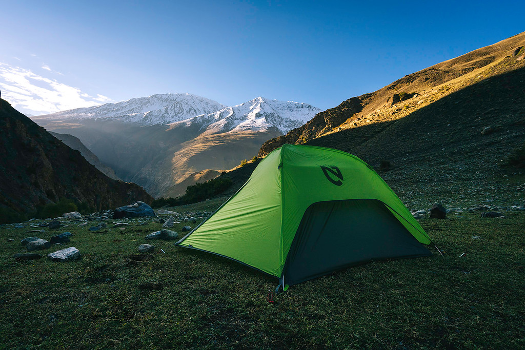 Tent in the Pamir Mountains