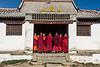 Monks preparing for prayers