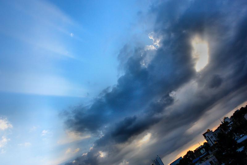 Korean skies during monsoon season.