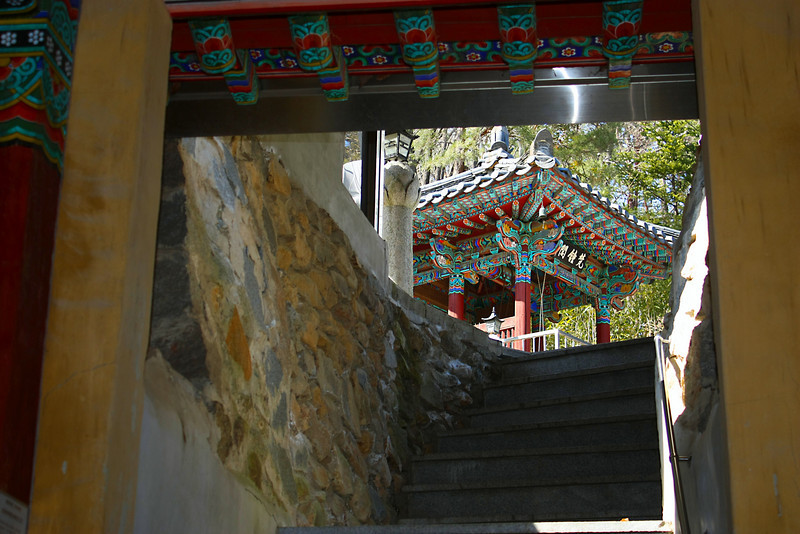 Buddhist temple entrance at the base of Apsan in Daegu, Korea.