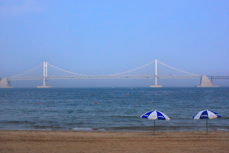 Beach at Busan, Korea.