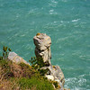 """Stone Buddha"" along the Igidae Coastal Walk (cliff side walk) in Busan, Korea."