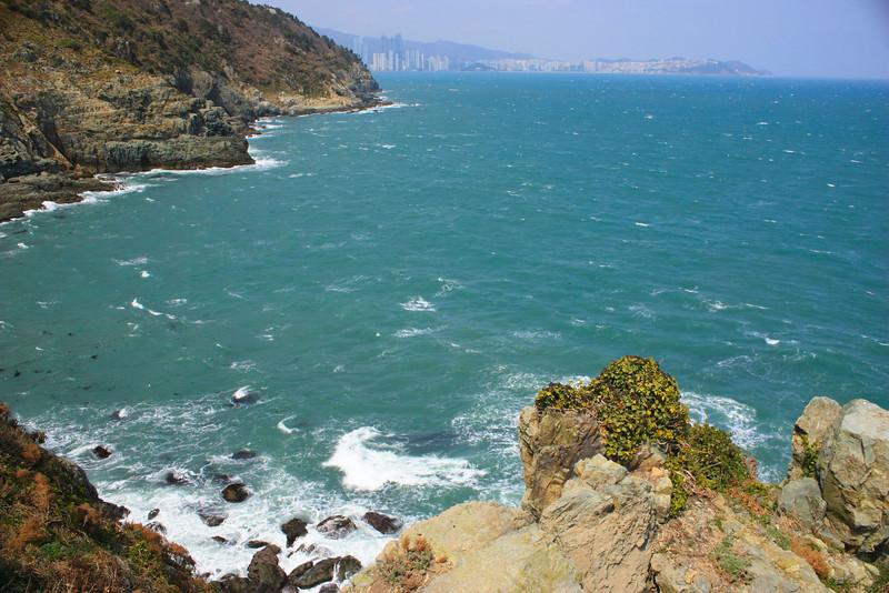 The East Sea in Busan, Korea.