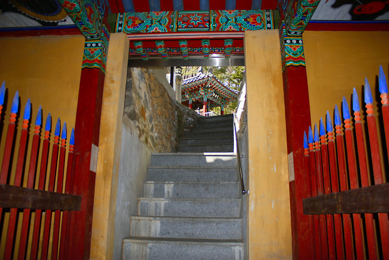 Buddhist Temple entrance at the foot of Apsan in Daegu, Korea.