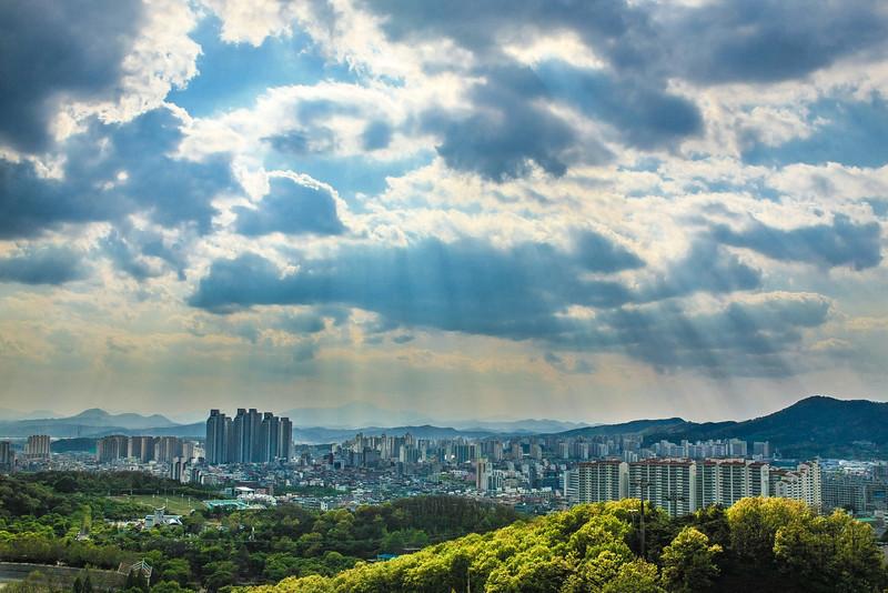 Monsoon season in Daegu.