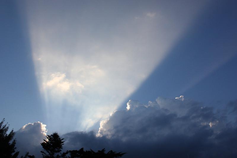 Clouds gathering during monsoon season in Daegu, Korea.