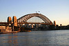 Sydney Harbour bridge at sunrise.