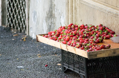 Strawberries in Baku, Azerbaijan