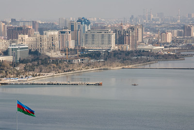 Baku, Azerbaijan - February 2008: The oil rich port city of Baku, in Azerbaijan on the shores of the Caspian Sea. (Photo by Christopher Herwig)